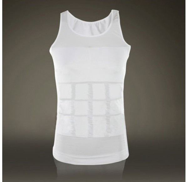 Hot sales Men Shaper Vest Body Slimming Tummy Belly Waist Girdle Shirt Shapewear Underwear 13