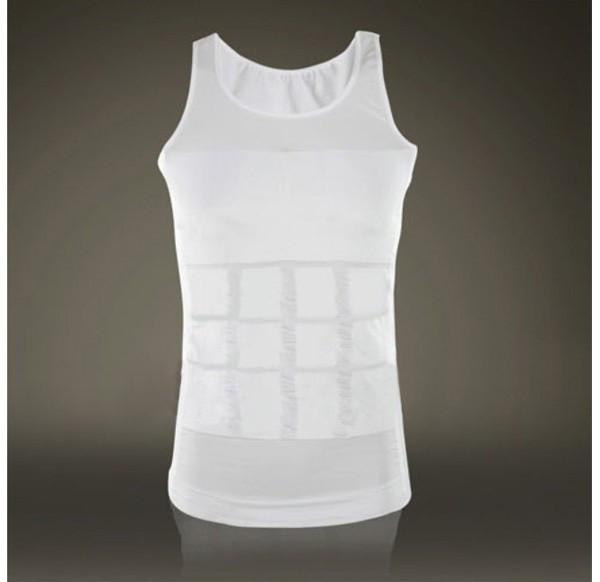 Hot sales Men Shaper Vest Body Slimming Tummy Belly Waist Girdle Shirt Shapewear Underwear 13