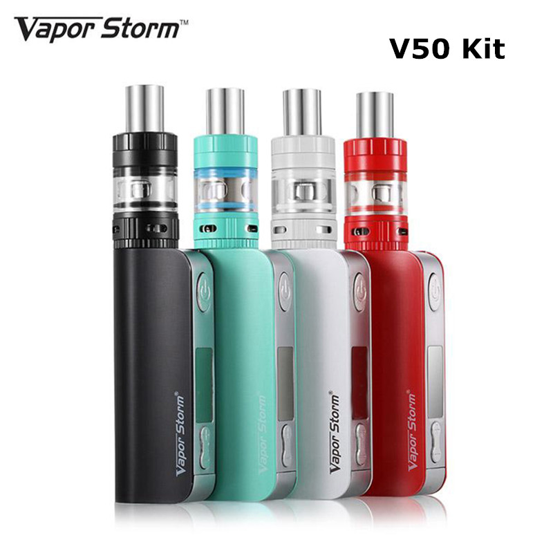 Vapor Storm 50W box mod kit Electronic cigarette TC Temperature Control Hookah Pen Vape 2200mah Built-in Battery E Cigarette