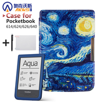 Protective Shell For Pocketbook 614 624 626 640 Luxury Pu Leather Cover Case Ereader Case Free
