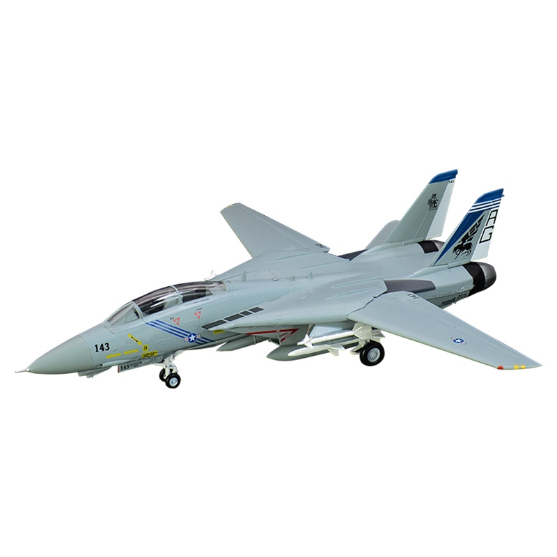 1/72 scale pre built scale F 14B Tomcat F 14 jet aircraft hobby collectible finished plastic airplane model