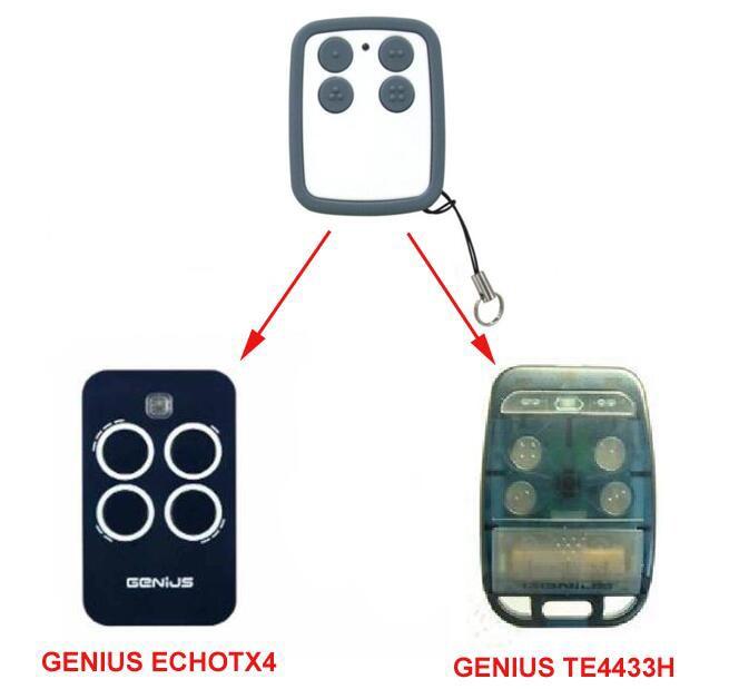 GENIUS TE4433H ECHOTX4 compatible Remote control free shipping clemsa mastercode mv1 compatible remote control 433mhz free shipping