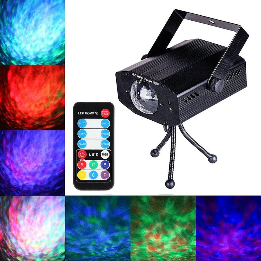 9W RGB LED Water Wave Ripple Effect Stage Light Laser Projector lamp Christmas Disco DJ Show Event Party Birthday Light