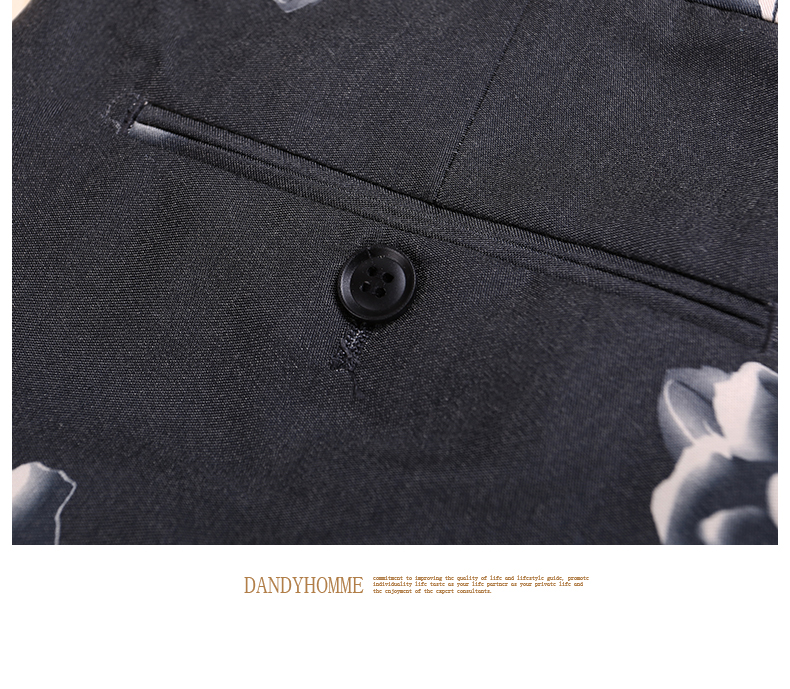 Новинка высокого качества Мужская Глубокий серый вырос печатные Smart Super Slim случайные тонкий бизнес Свадебные Жених Костюмы Штаны человек брюки