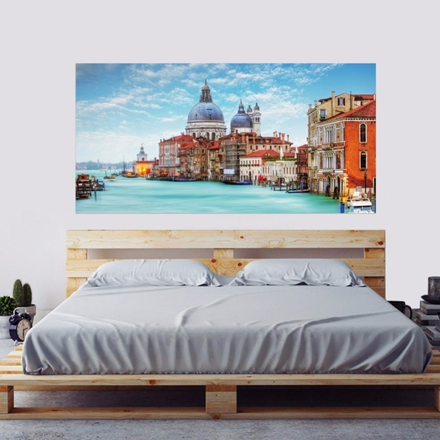 3d Water City Of Venice Combination Landscape Bed Headboard Wall
