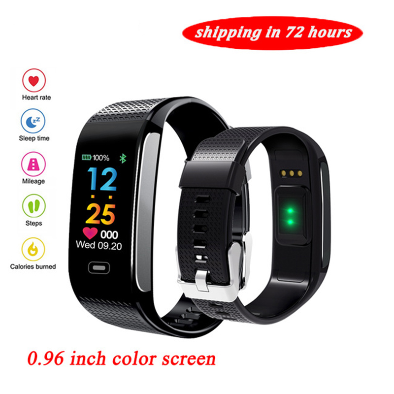 New Fitness Tracker R18 Smart Bracelet Real-time Heart Rate Health Monitor Call Message Reminder Bluetooth 4.0 Waterproof Watch