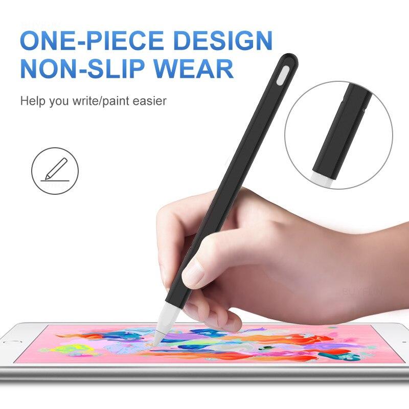 Étui en Silicone capuchon pointe porte-couvercle tablette tactile stylet pochette pour Apple crayon 1 génération étui pour ipad crayon - 3