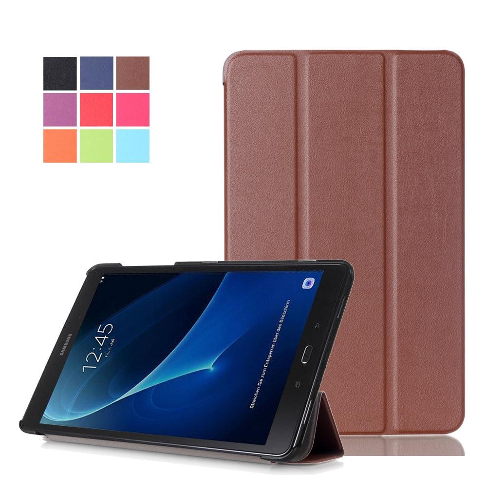 Caso Da Tampa Do Tablet para Samsung Galaxy Tab UM A6 10.1 T585 T580 T580N Folio Fique Capa de Couro