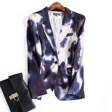 Europe and the United States women's new autumn 2016 Cultivate one's morality fashion printing suit small jacket