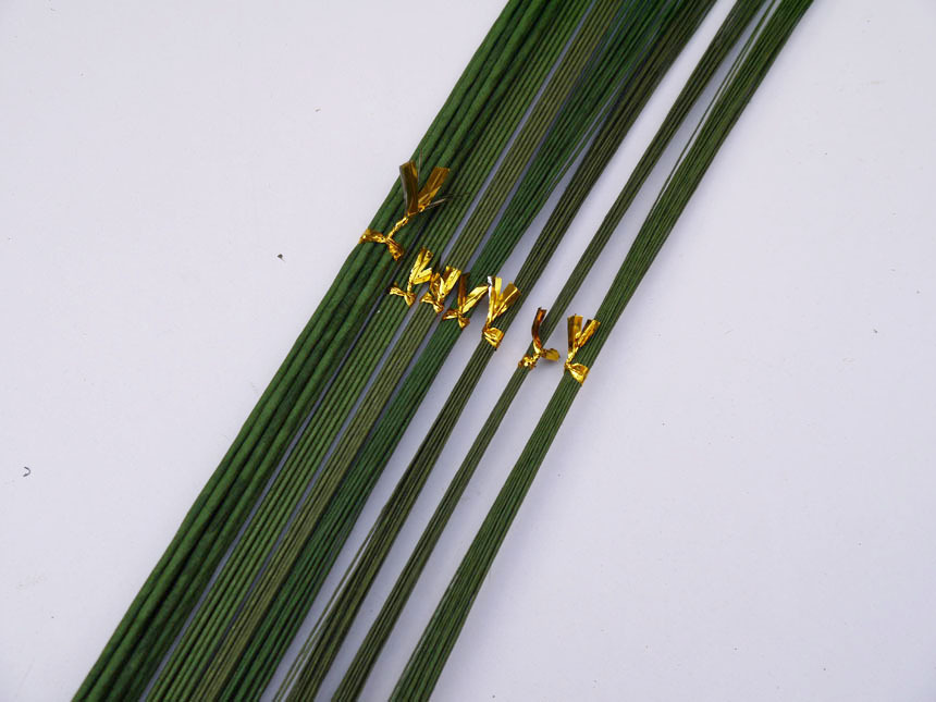 from 18gauge to 28gauge green paper covered florist wire 23\