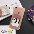 For Iphone7 7plus Cute We Bare Bears Design Phone Back Cover Case Silicone Soft Shell For Iphone6 6s 6Plus 6sP Mobile phone case