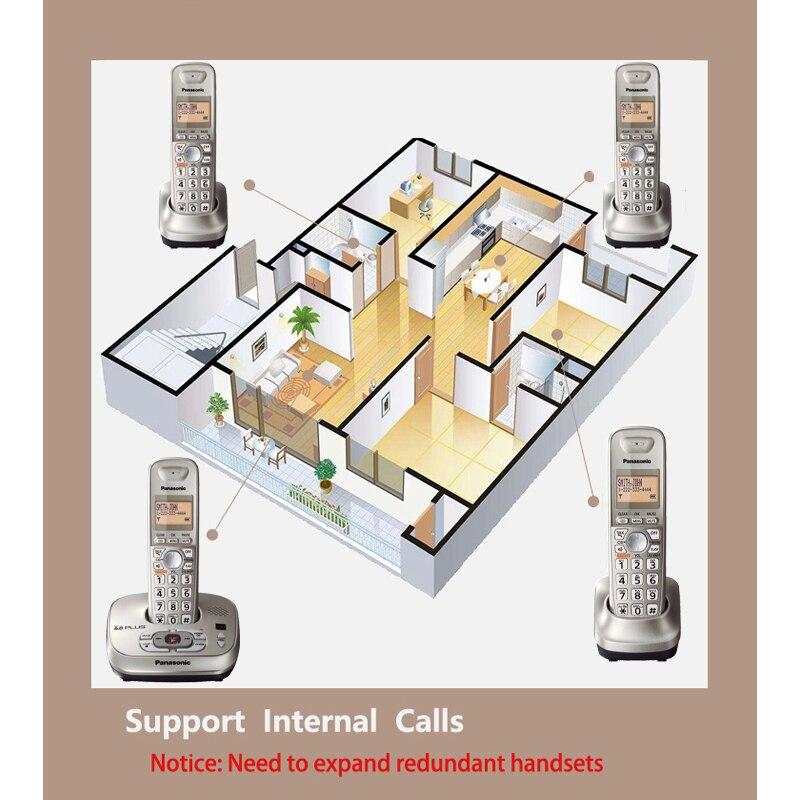 DECT 6.0 Plus téléphone sans fil numérique avec interphone interne identification d'appel téléphone sans fil à domicile anglais espagne langue - 4