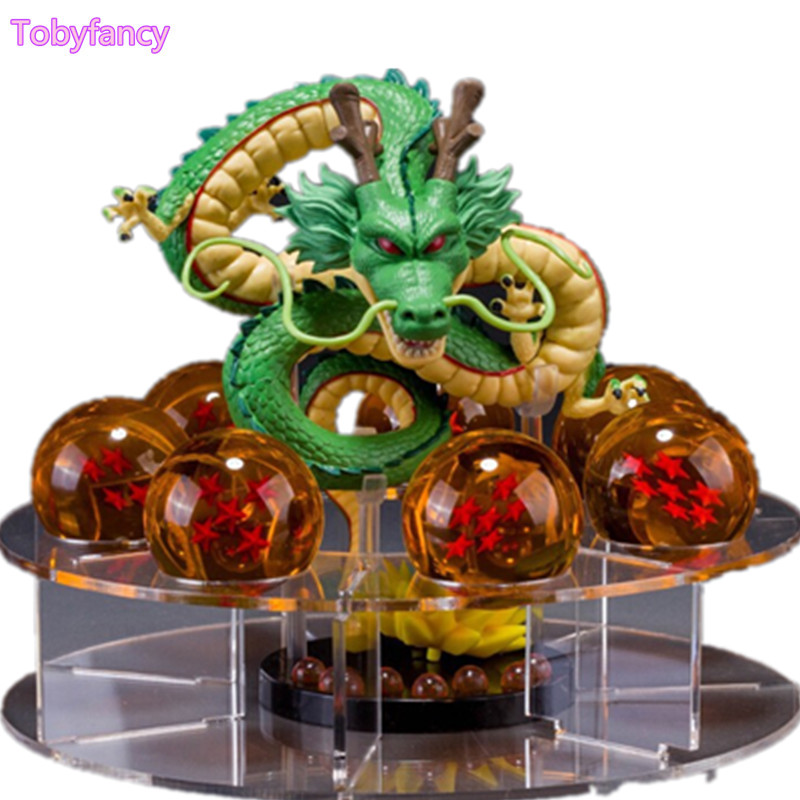 Dragon Ball Action Figure Shenron With Crystal Ball Set Anime Dragon Ball Super Figurine DBZ Model Toys Goku Shenlong Set anime dragon ball z shenlong shenron with balls pvc action figure collectible model toy doll 14cm kt098
