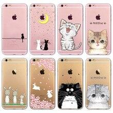 Fundas Mobile Phone Bags Case Cover for iphone 6 6S 4 7 Soft Slim TPU Transparent