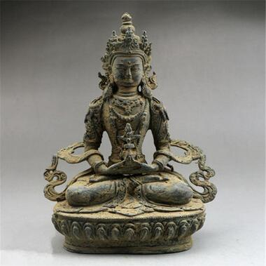 Do the old antique bronzes unearthed bronze statue of Buddha Manjusri decoration decoration antique crafts collection   ZZDo the old antique bronzes unearthed bronze statue of Buddha Manjusri decoration decoration antique crafts collection   ZZ