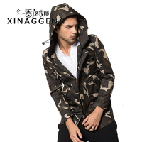 Military Casual Mens Jacket Windproof Jacket Men High Quality Students Fashion Thin Camouflage Long Coat Charming