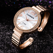 Luxury Brand Rose Gold Ladies Watch 2019 New Stylish Diamond Bracelet W