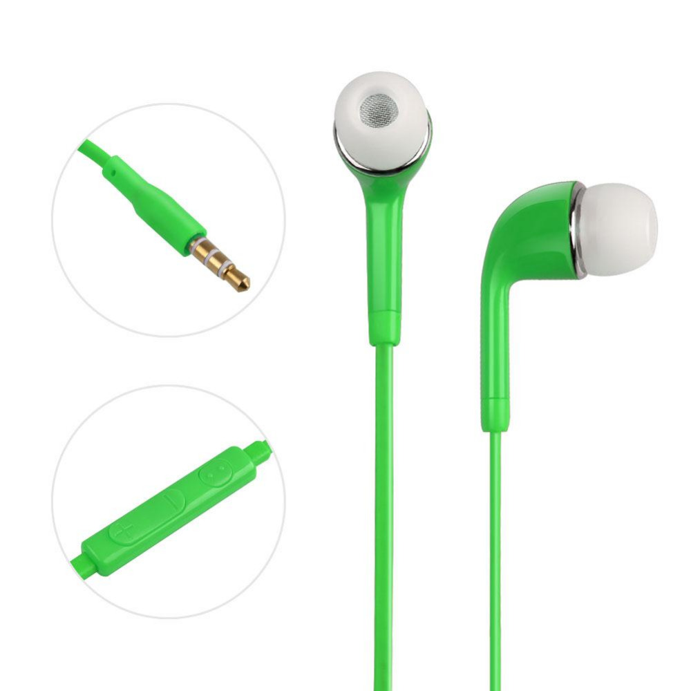 BCMaster 3.5mm In-Ear Earphone Candy Color Earphones Cable Versatile Earbuds for mobile phone PC Laptop mp3 CD player
