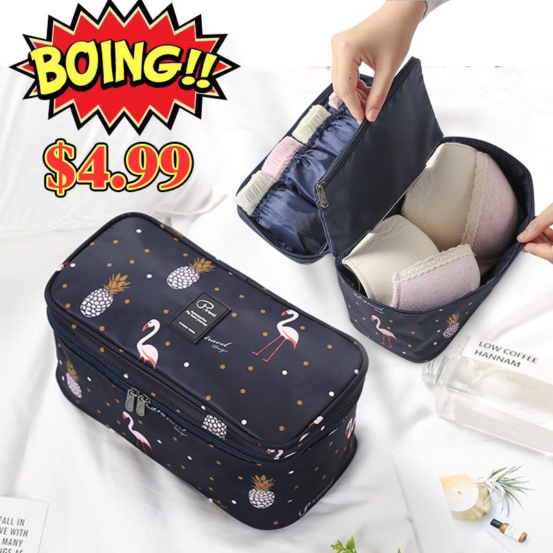 Underwear Organiser Bra-Case Travel Flamingo New Pouch-Bag Multiple-Pockets Large-Capacity title=