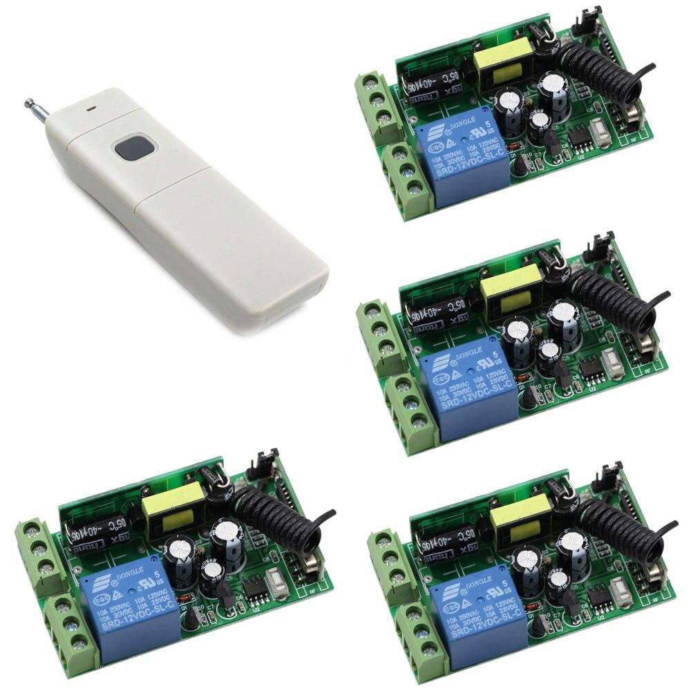AC 85 V 125 V 240 V 250 V 1CH Sans Fil Relais Commutateur de Commande À Distance Radio Interrupteur de Lumière 110 V 220 V Récepteur Émetteur 315/433 Mhz