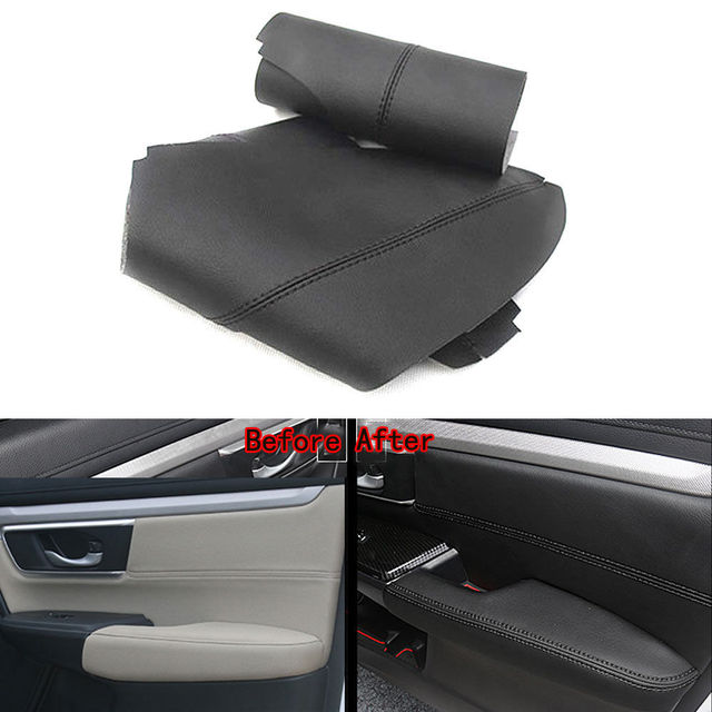 8pcs Car Door Panel Armrest Surface Shell Cover PU Leather Interior ...