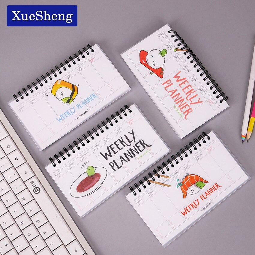 Cute Kawaii Cartoon Weekly Planner Coil Notebook Agenda Filofax For Kids Gift Korean Stationery
