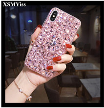 Case Luxury Bling Crystal Diamonds gem 3D Stones Stand Soft Back Cover For Xiaomi Redmi 9A 7 8 5A 6A Note 8T Pro 5 6 7 Note 9s