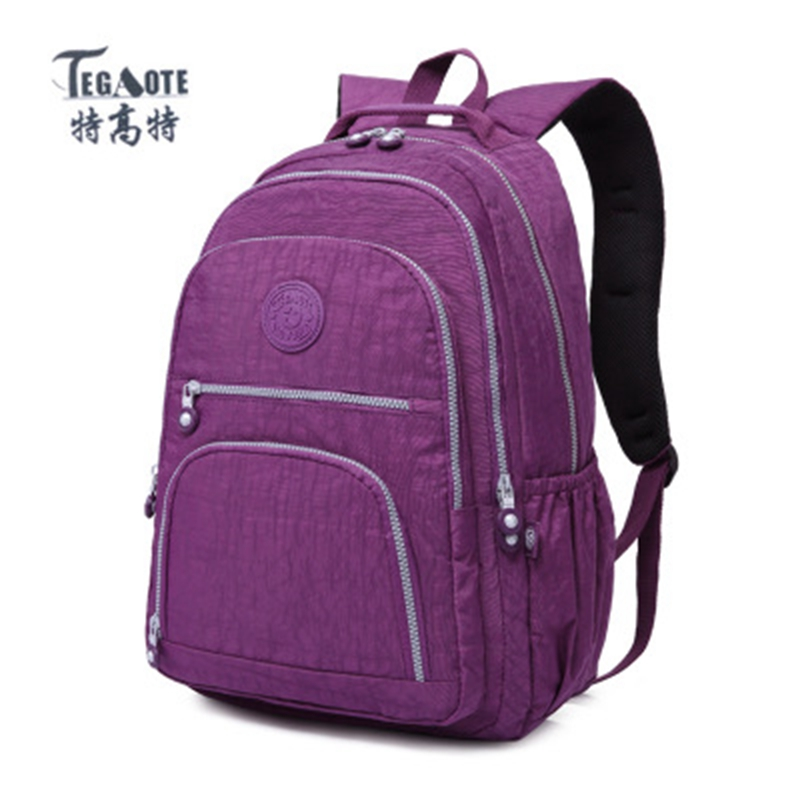 TEGAOTE Backpack for Teenage Girls School Mochila Feminina Escolar Women Backpack Nylon Casual Laptop Backpack Female Sac A Dos ranhuang women casual canvas backpack new 2017 women s fashion backpack school bags for teenage girls mochila feminina a695