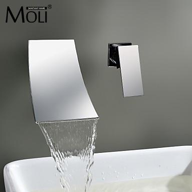 aliexpress buy waterfall wall mount bathroom faucet single wall mounted bathroom faucets