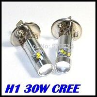 2x HID Xenon White High Power 30W CREE XQB H1 LED Replacement Bulbs For Fog Lights