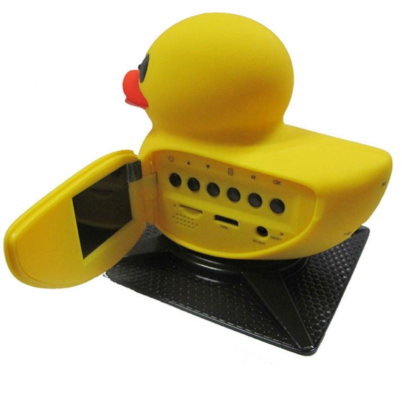 imágenes para Dash Leva de la Cámara Grabadora de Vídeo Digital HD 1080 P Del Coche DVR pato Forma Portátil para el conductor Amarillo Pato G-sensor de la Cámara Incorporada 64 MB