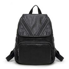 Кожаный рюкзак Для женщин Повседневное школы Рюкзаки для подростка Обувь для девочек молния засов студент сумка Fahsion путешествия Рюкзаки