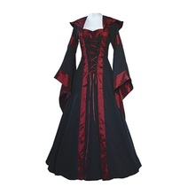 Medieval Dress New Women Vintage Style Gothic Costume Pirate Ball Gown Peasant Wench Victorian