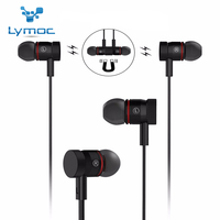 New Lymoc Magnetic Bluetooth Earphone BE340 Bluetooth 4 1 Sweatproof Sport Headset Wirelss HD MIC CVC6
