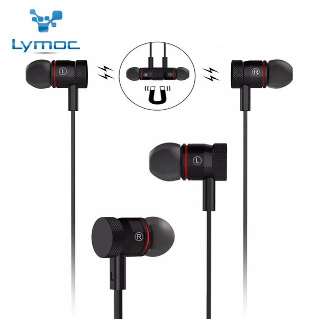 Nueva lymoc be340 magnética auricular bluetooth bluetooth 4.1 sweatproof deporte auriculares wirelss hd mic cancelación de ruido cvc6.0