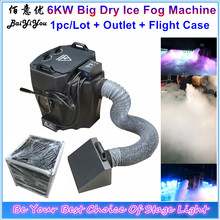 New 6KW Big Super Power Dry Ice Fog Machine 6000W DMX Low Lying Fog Machine Dry Ice Smoke Machine With Metal Outlet And Fly Case(China)