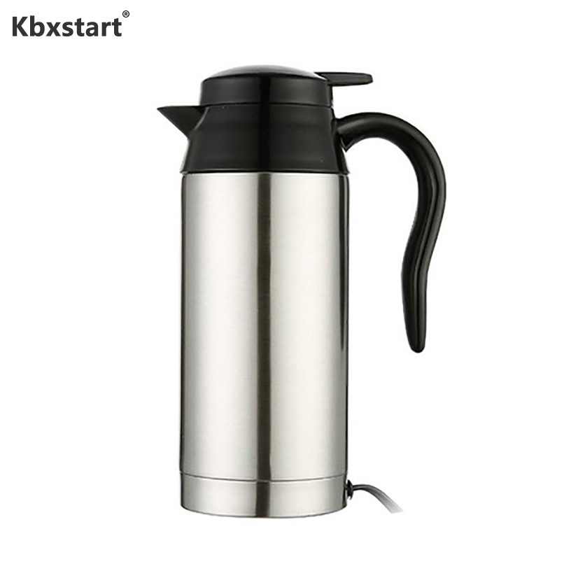 12V/24V Electric Kettle 750ML Car Heating Cup Travel Hot Water Bottle For Automobile/ Truck Use Stainless Steel Water Heater Pot12V/24V Electric Kettle 750ML Car Heating Cup Travel Hot Water Bottle For Automobile/ Truck Use Stainless Steel Water Heater Pot