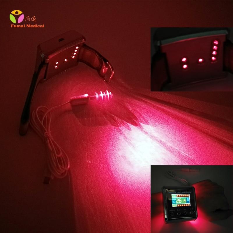Digital Wrist Medical Laser Watch 650nm Soft Laser for Diabetes Therapy Cholestrol Blood Regulation High Blood