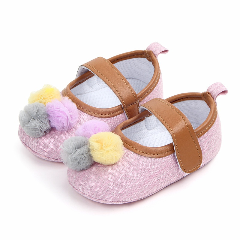 Fashion Baby Shoes Ball Baby Girl Shoes Classic Canvas Cotton Soft Bottom Baby Girl Shoes First Walker