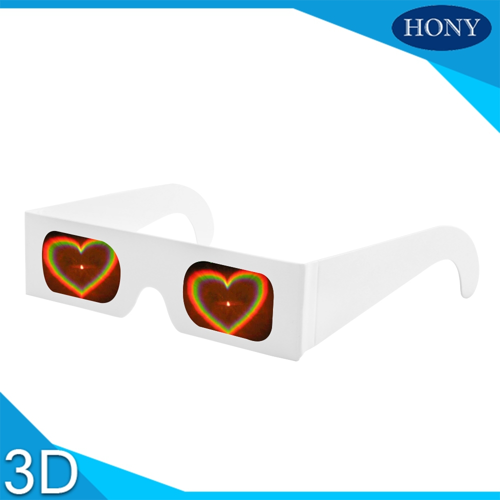 100pcs 3D Paper Diffraction glasses Heart Star Smiles Long Star Fireworks Rainbow Lens Wholesale for Holidays