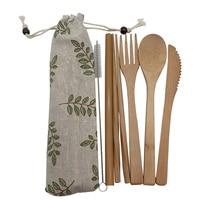 Portable Bamboo Tableware Set 4