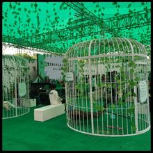 Super large wrought iron peacock bird cage custom wedding decoration props display outdoor