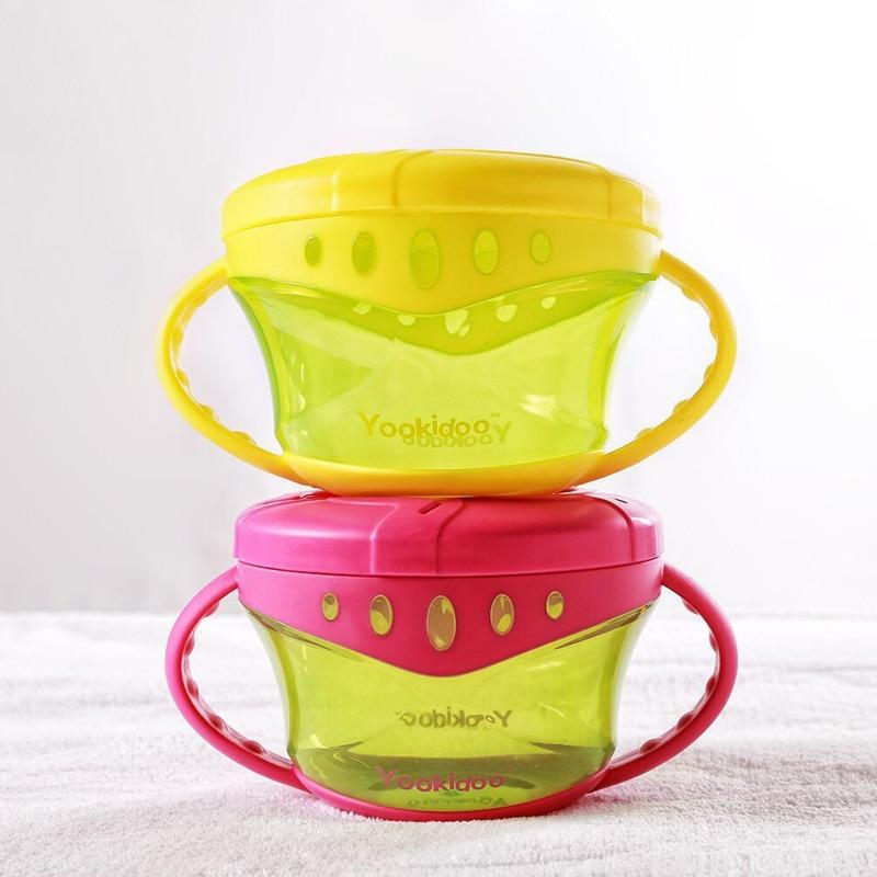 Baby Snack Non Spill Cup Soft plastic portable Portable storage - Memakan kanak-kanak - Foto 2