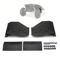 Front Mud Flaps For Polaris RZR XP 4 1000 Black 2014 2016 2014 2015 2016