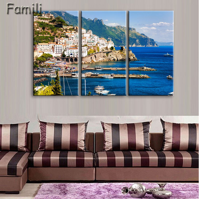 Fashion Canvas Painting Wall Art Print 3 Panel Famous Building Italy Landscape Home Decor Picture For Living Room Poste
