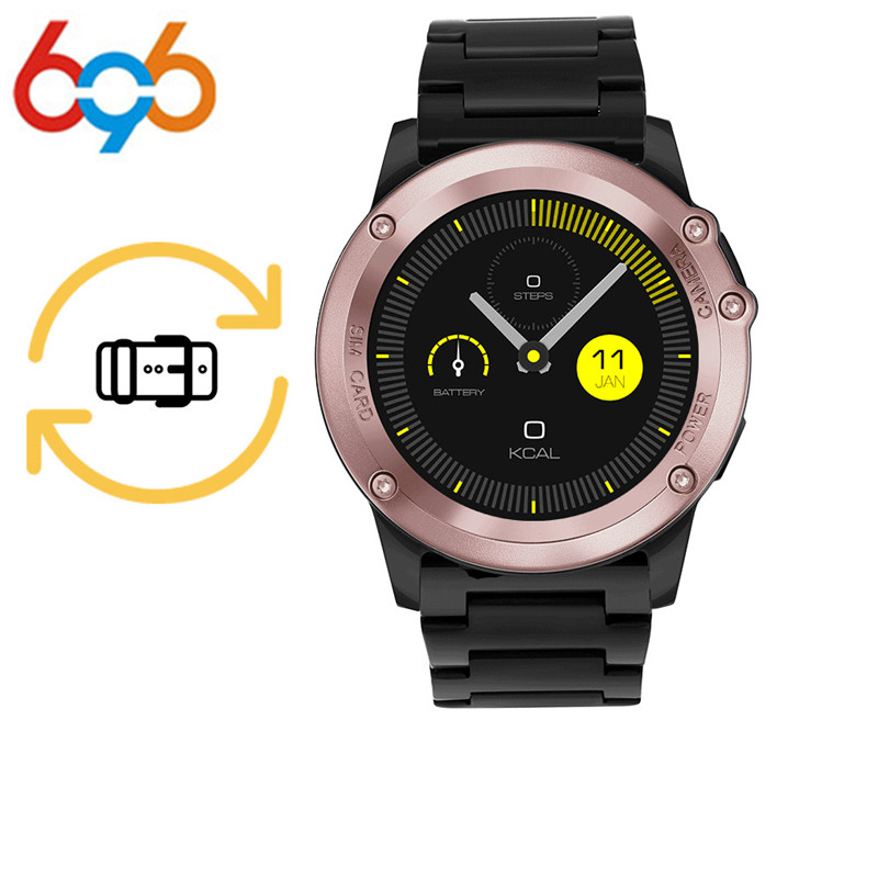 696 H1 Smart Watch Android 4.4 OS Smartwatch MTK6572 512MB 4GB ROM GPS SIM 3G Heart Rate Monitor Camera Waterproof Sports Wristw smartch h1 smart watch ip68 waterproof 1 39inch 400 400 gps wifi 3g heart rate 4gb 512mb smartwatch for android ios camera 500