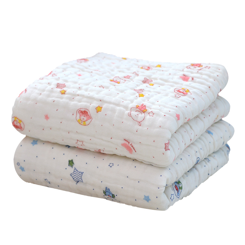 Muslin Baby Blanket Bath Towel Winter Super Soft Breathable Cotton 6 Layers Gauze Newborn Swaddle Thick Infant Receiving Blanket