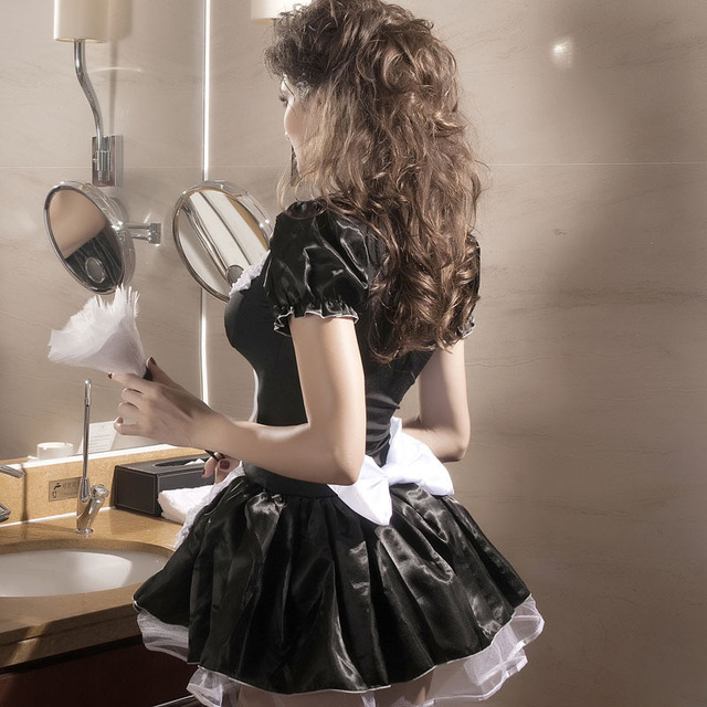 Hallowmas French Maid plus size sexy costumes erotic lingerie