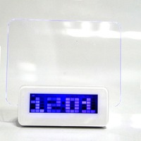 Living Room Bedroom Led Blue Light Electronic Digital Alarm Clock With Message Board Home Decor Horologe