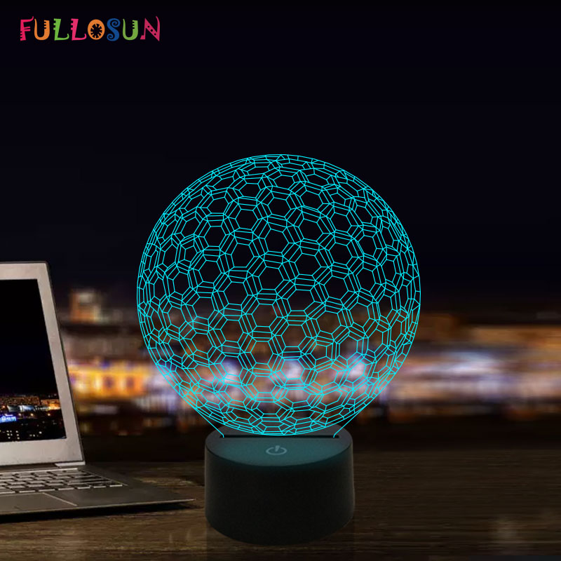 LED Novelty Light 3D Illusion Visual Lighting Art Abstract Atmosphere Lamps For Beside Decorative Table Lamp